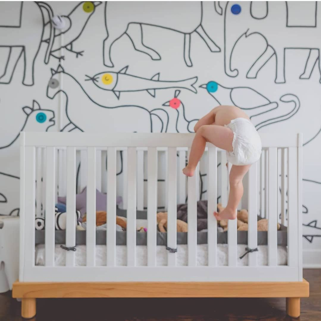2-year-old climbing out of crib at night